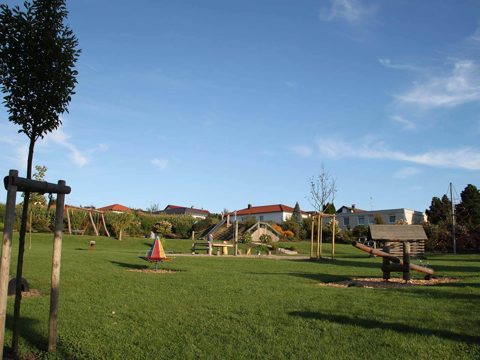 Der Spielplatz Knallfrosch in Herbertingen