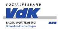 Logo des Sozialverbandes Vdk in blauem Schriftzug