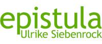 Logo der Firma epistula Ulrike Siebenrock in grünem Schriftzug