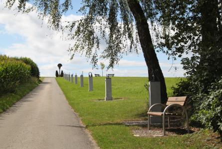Blick auf den Kreuzweg in Herbertingen