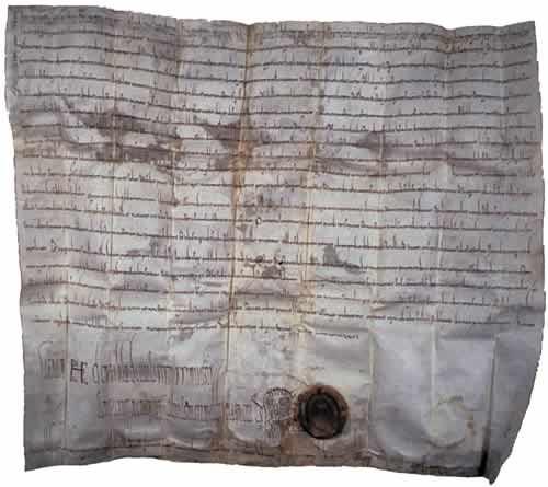 Abbildung der ersten Urkunde in der Herbertingen erwähnt wird