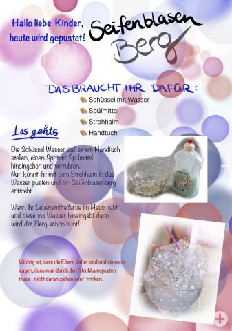 Seifenblasenberg - Kindergartentipp vom 23.03.2020