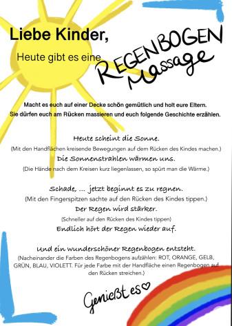 Kindergarten-Tipp vom 26.03.2020, Regenbogenmassage