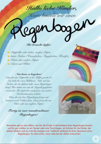 Kindergarten-Tipp vom 27.03.2020, Regenbogen basteln