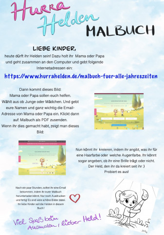 Kindergarten-Tipp vom 02.04.2020, Helden-Malbuch