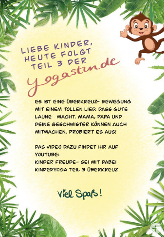 Kindergarten-Tipp vom 15.04.2020, Yoga Affe