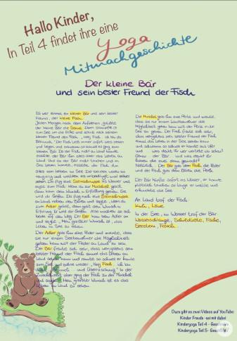 Kindergarten-Tipp vom 16.04.2020, Yoga Mitmachgeschichte