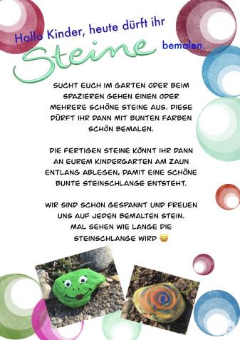 Kindergarten-Tipp vom 21.04.2020, Bunte Steine