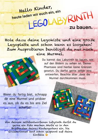 Kindergarten-Tipp vom 24.04.2020, Lego-Labyrinth