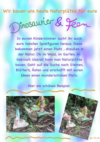 Kindergarten-Tipp vom 28.04.2020, Dinosaurier und Feen